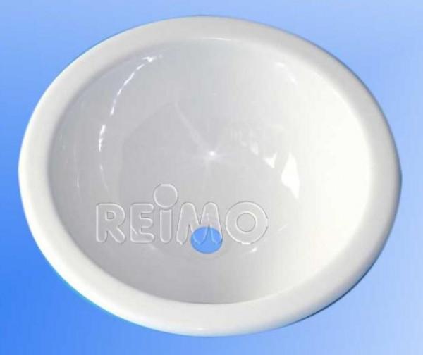 Einbauwaschbecken rund weiß 290mm