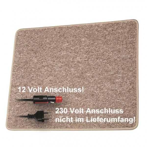 Pro Car Heizteppich 60 x 100 cm braun 12 Volt / 60 Watt