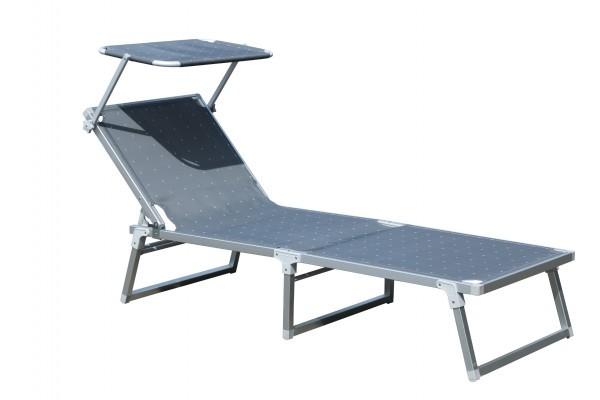Bel Sol Strandliege Mit Sonnendach Anthrazit Campingbett