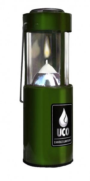 UCO Kerzenlaterne Alu anodisiert grün