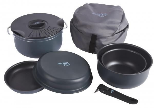 Camping-Kochset aus Aluminium 7-teilig
