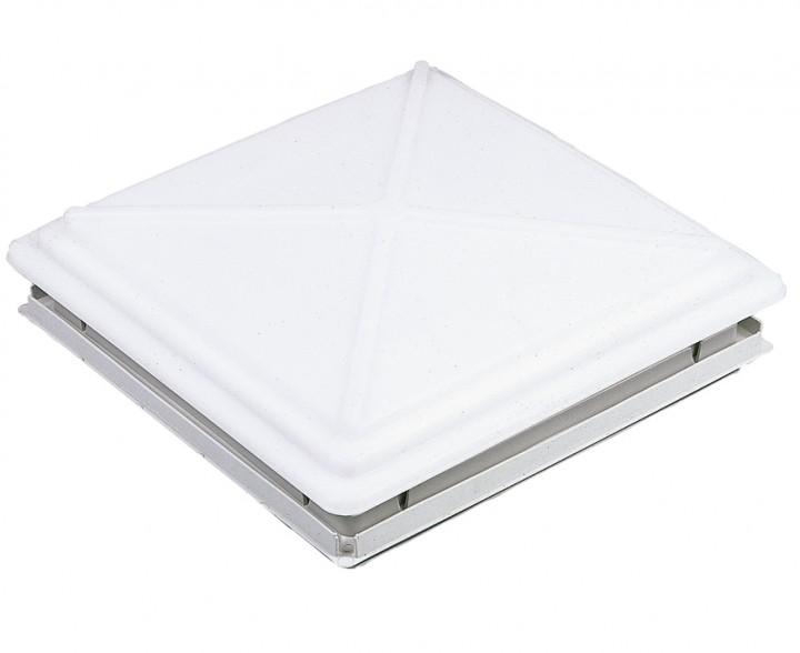 MPK Dachhaube 40 x 40 cm mit Verriegelung und Moskitonetzrahmen beige