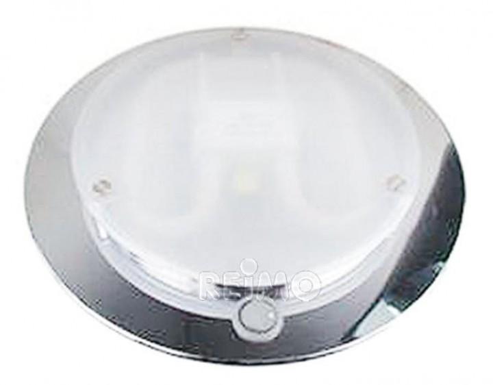 Modul-Deckenleuchte 16W/12V Chrom mit Schalter