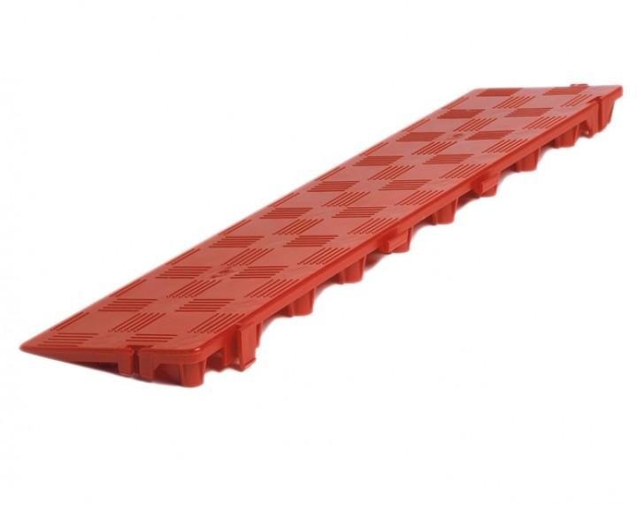 Clippy Längsrampe für Bodenrost rot