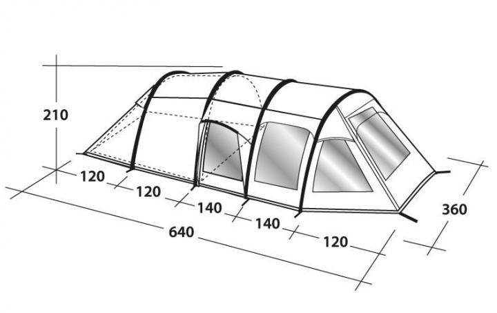 Outwell Tunnelzelt Concorde L