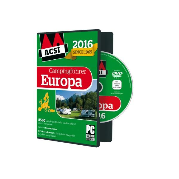 ACSI Campingführer Europa DVD 2016