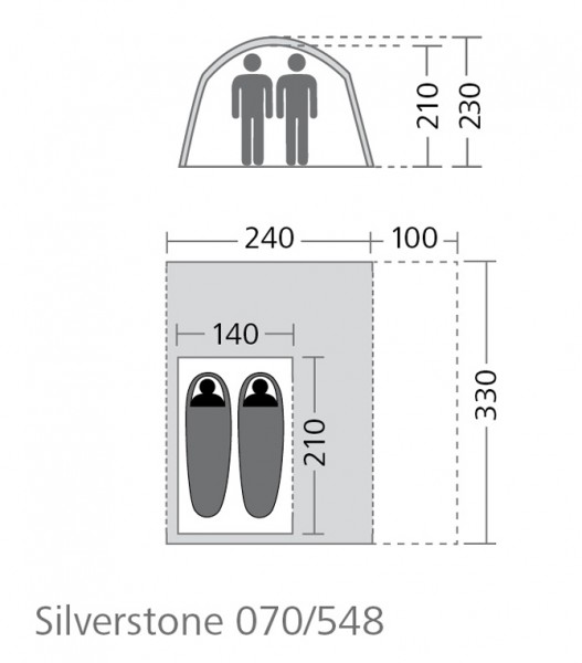 Tunnel-Buszelt Silverstone