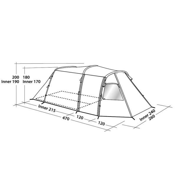 Easy Camp Tunnelzelt Huntsville 400