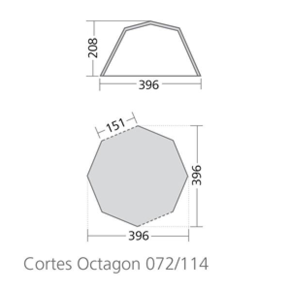 Coleman Familienzelt Cortes Octagon 8
