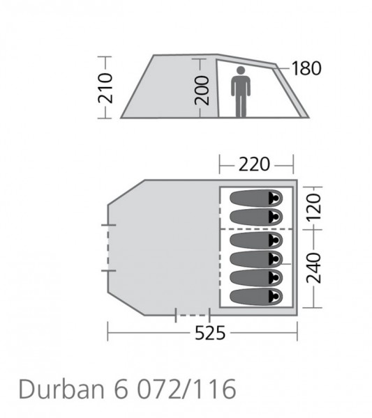 High Peak Tunnelzelt Durban