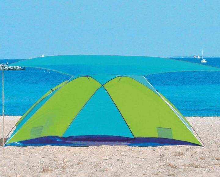 Strandmuschel Florida mit Sonnendach und Sichtschutz