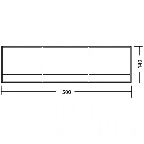 Windschutz 500 x 140 cm grau