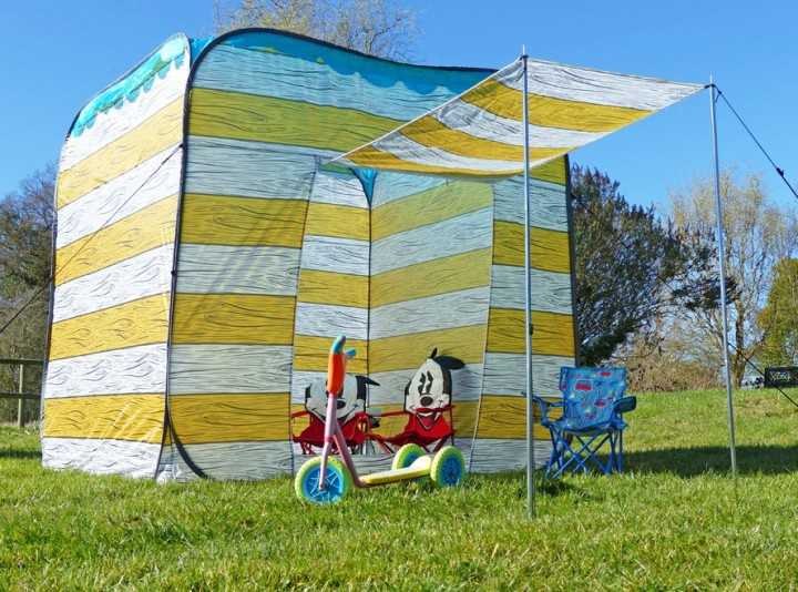 Beach Hut OLPro gelb Pop-up Zelt