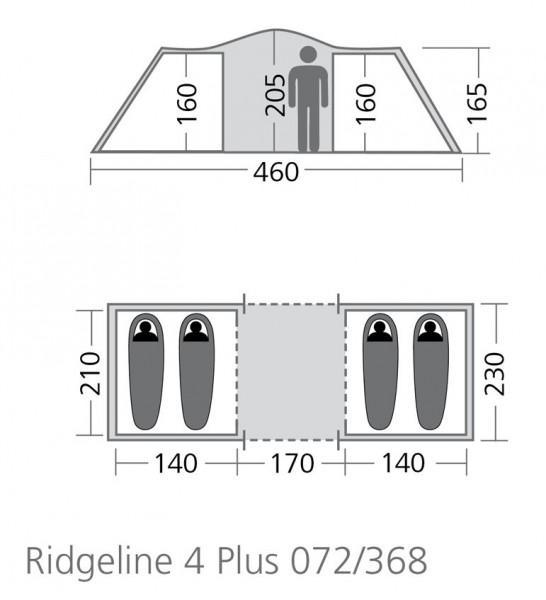 Coleman Ridgeline™ 4 Plus Familienzelt