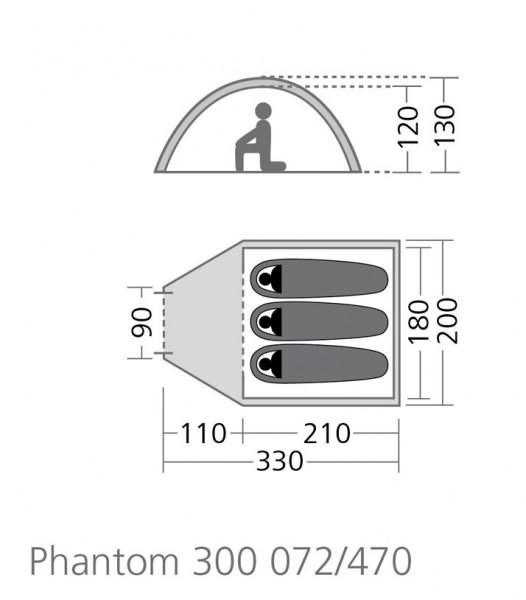 Kuppelzelt Phantom 500