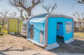 Luftvorzelt GT Home für Vans und Busse blau