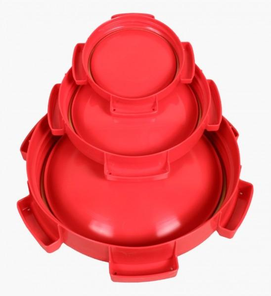Ersatzdeckel rot für Weithalstonne rund für 42, 55 & 68 L