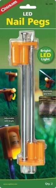 Coghlans Zelthering mit LED 25 cm, 2er Pack