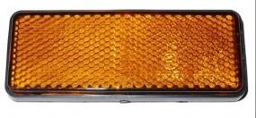 Reflektor rechteckig Gelb 95x38 mm