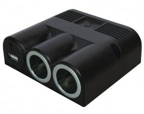 Aufbau Dreifachsteckdose 12 Volt mit 1x USB und 2x Powersteckdose
