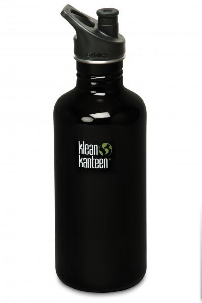 Klean Kanteen Flasche 'Classic' Sports Cap schwarz, 1,182 L