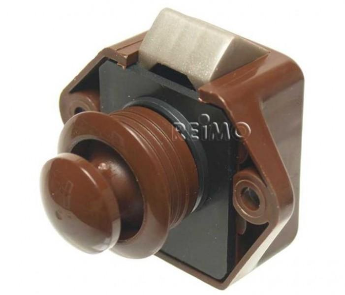 Push Lock Mini Möbelschloß braun