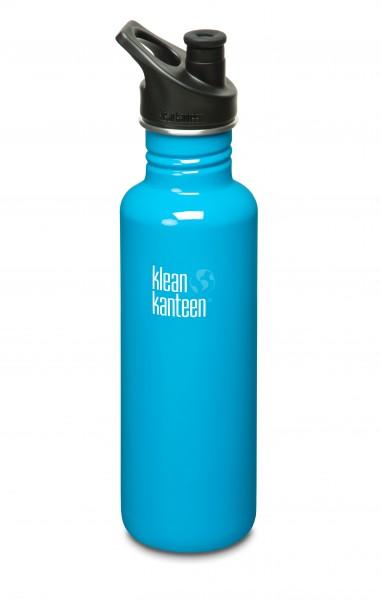 Klean Kanteen Flasche 'Classic' Sports Cap hellblau, 0,8 L