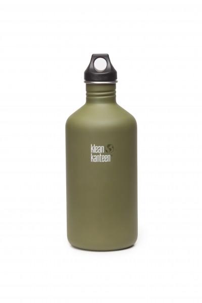 Klean Kanteen Flasche 'Classic' Loop Cap matt oliv, 1,9 L