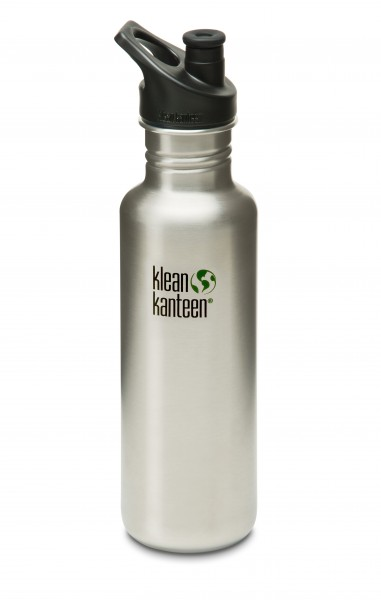 Klean Kanteen Flasche 'Classic' Sports Cap edelstahl, 0,8 L
