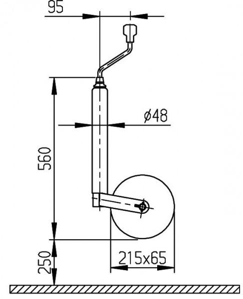 AL-KO Stützrad mit Pinstop