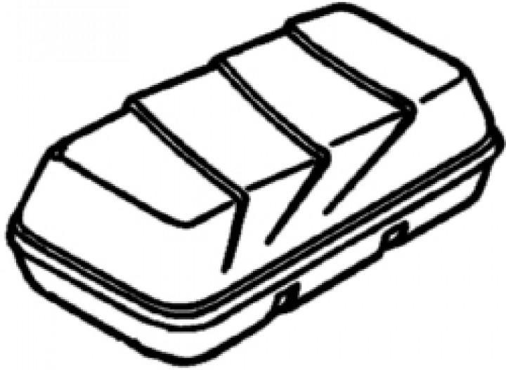 Deckel Top-Box 100, weiß