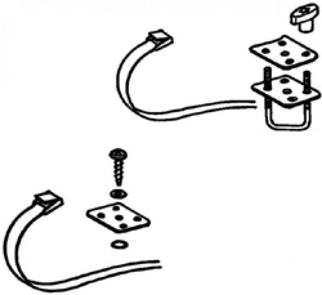 Montagesatz Gepäckboxen - Montagesatz Top-Box 100 / 110, Roof Box 110