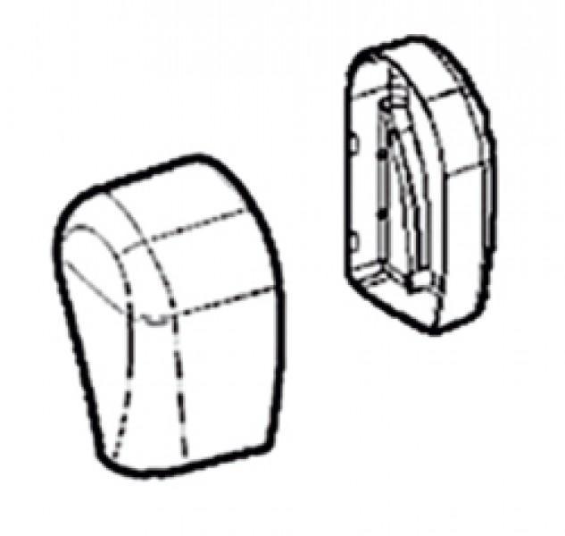 Endkappen Thule|Omnistor 5002 links weiß 12V