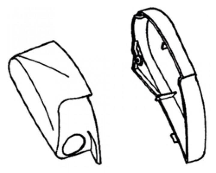 Endkappen Thule|Omnistor 6900 - Endkappe rechts eloxiert Thule|Omnistor 6502 / 6802 / 6900