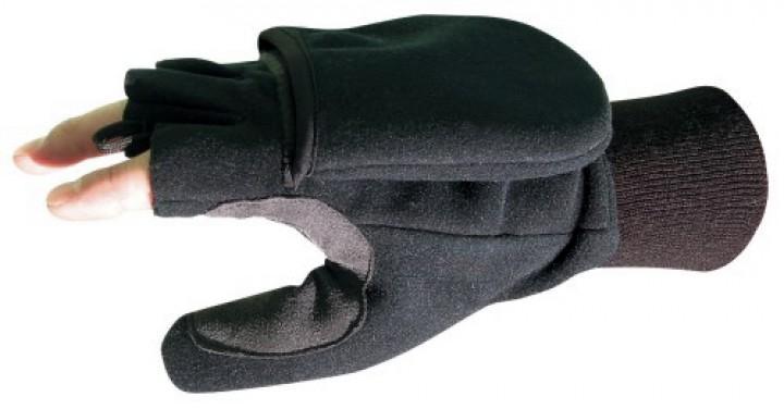 F Handschuhe 'Klapp-Fäustling' schwarz, XL