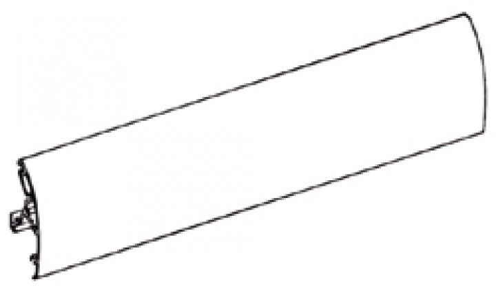 Frontblende Thule|Omnistor 6002 - Frontblende 3,50m Thule|Omnistor 6002, eloxiert