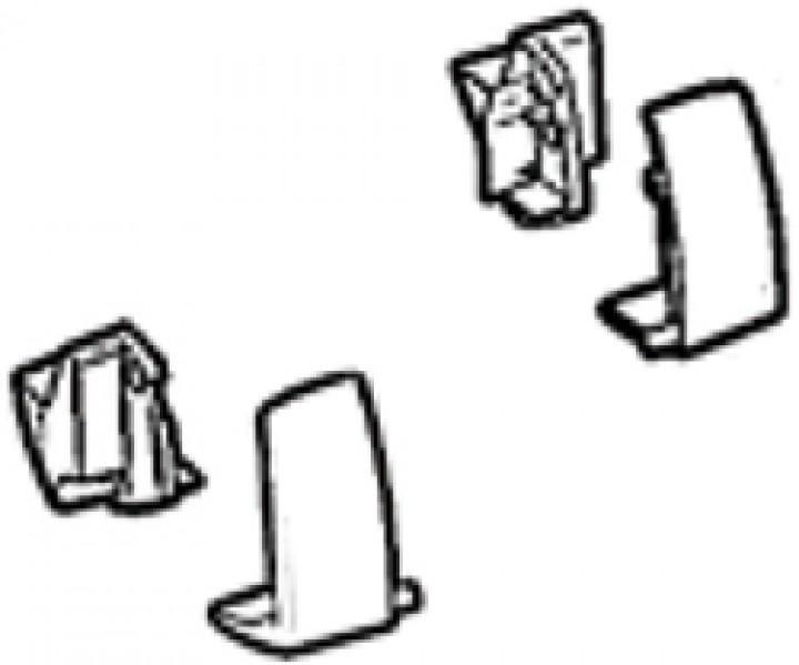 Frontblendenendkappen Thule|Omnistor 5102 Satz links und rechts