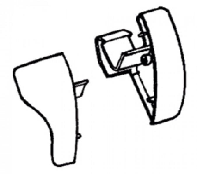 Frontblendenendkappen Thule|Omnistor 6900 - Frontblendenendkappen eloxiert Thule|Omnistor 6502 / 680