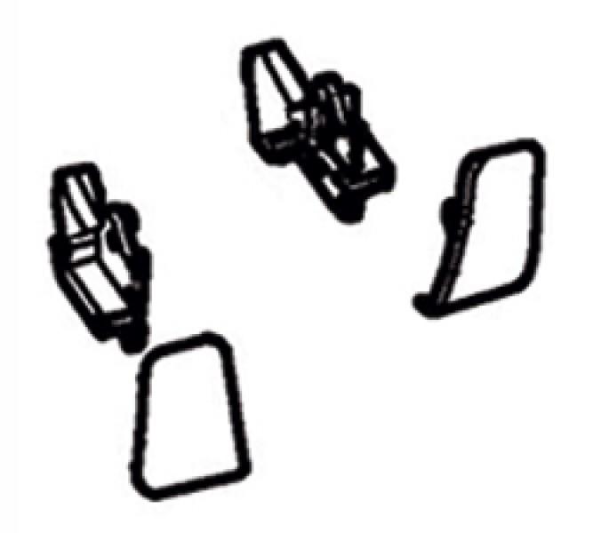 Frontblendenendkappen Thule|Omnistor 8000 - Frontblendenendkappen weiß Thule|Omnistor 8000 Satz link
