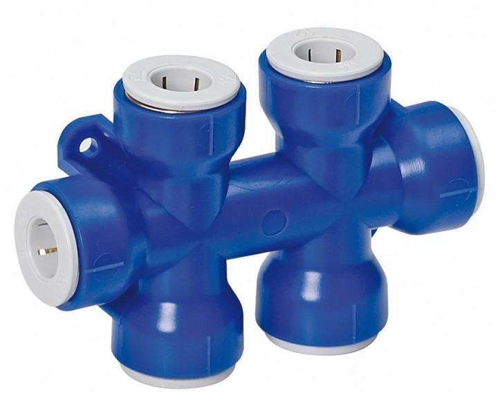 Mehrfachverbinder UniQuick Trinkwassersystem 12 mm