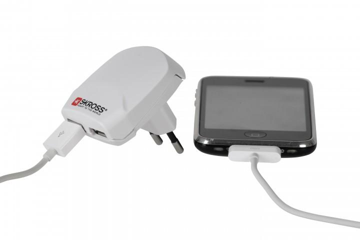 Skross Ladegerät 'Euro - USB' 2 USB Ausgänge