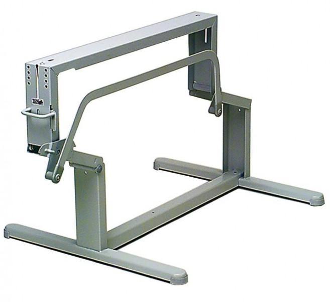 Hubtischgestell lichtgrau Säulenabstand 60 cm (außen)