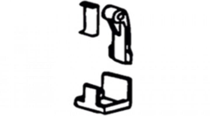 Schnellspannhebel für Stützfüsse - Schnellspannhebel und U-Stück für Stützfüße, 2 Stück