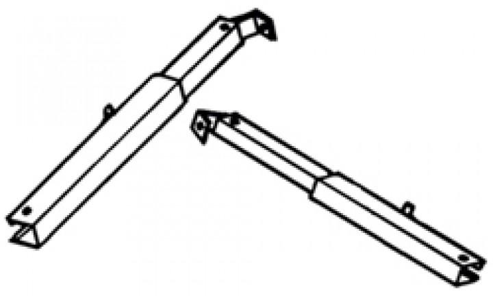 Teleskoparm Thule|Omnistor 2000 - Teleskoparm 2,60m, links Omnistor 2000 / Light