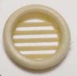 Möbellüftungsgitter 32 mm rund creme