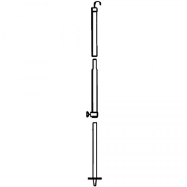Mast 2,80m mit Haken für Safari-Room Serie 2 / 5 / 8 und OS