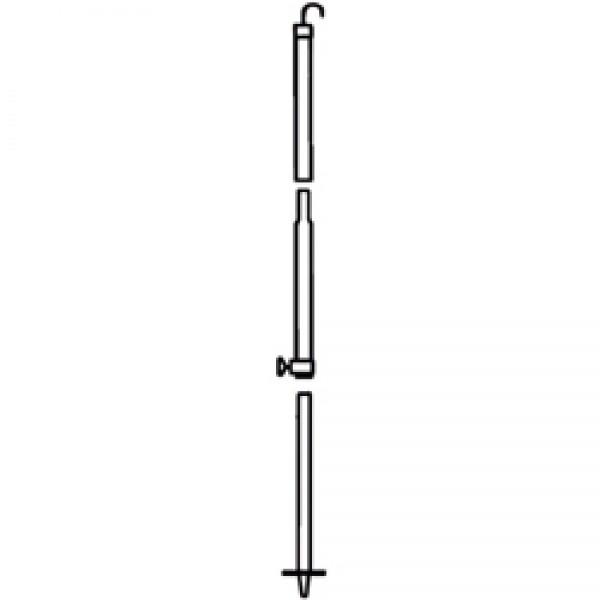 Mast 3,30m mit Haken für Safari-Room Serie 2 / 5 / 8 und OS