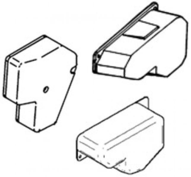 Abdeckkappe für Motor Omnistep 12V single alu V '02