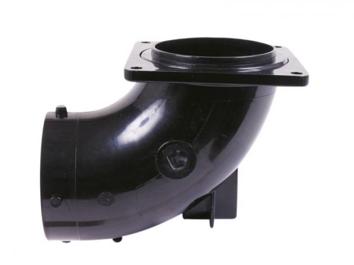 Bogen 90 Grad mit drehbarem Flansch 3 Zoll US für Abwassersystem Valterra