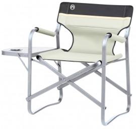 Coleman Regiestuhl Deck Chair mit Tisch beige